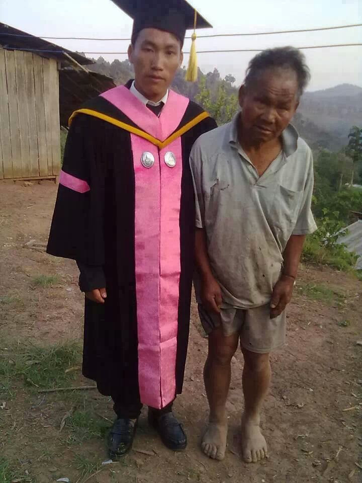 a poor farmer's son graduated